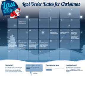 last orders for christmas